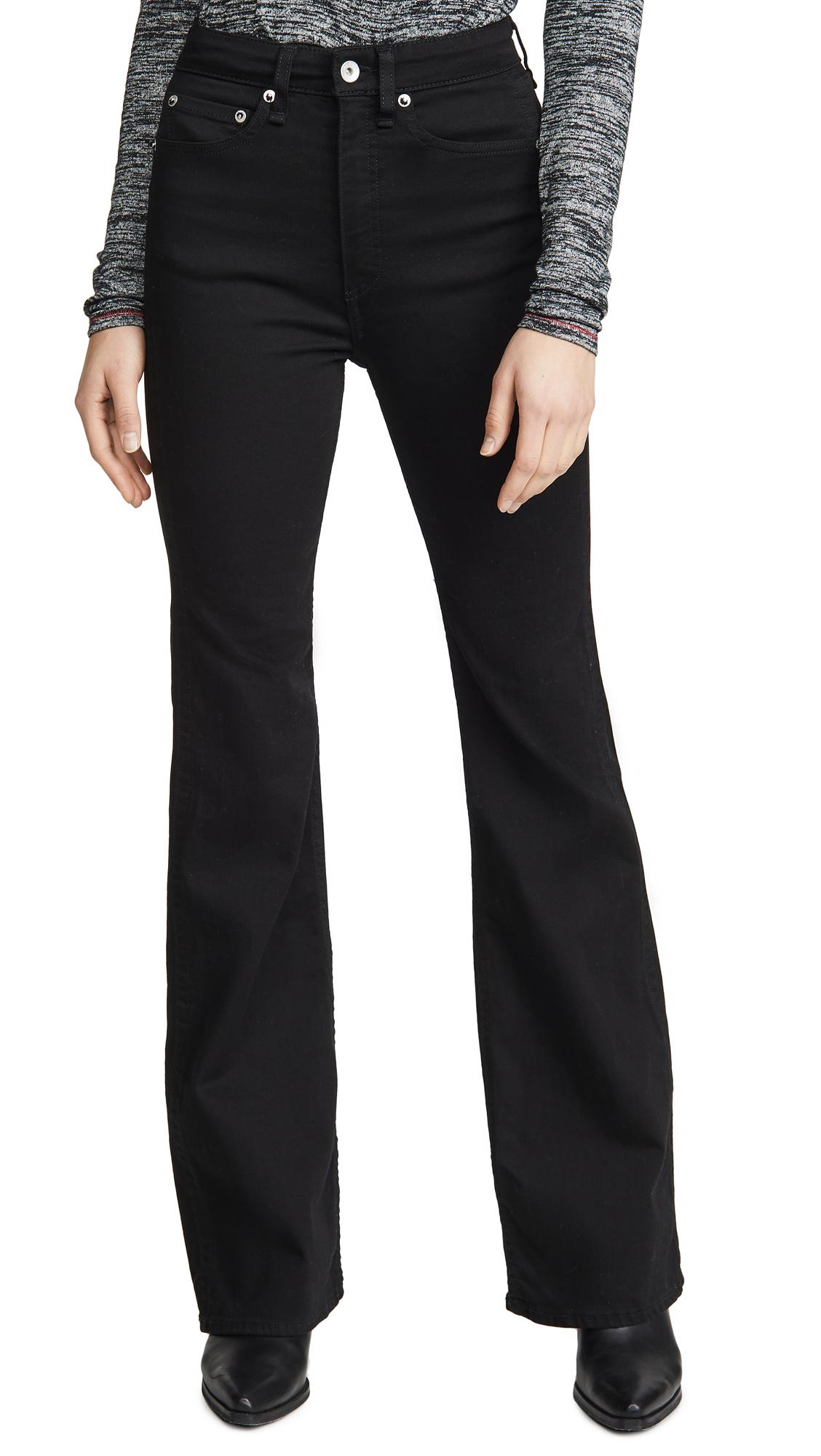 Buy Rag & Bone/JEAN online - photo of Rag & Bone/JEAN Jane Super High-Rise Flare Jeans