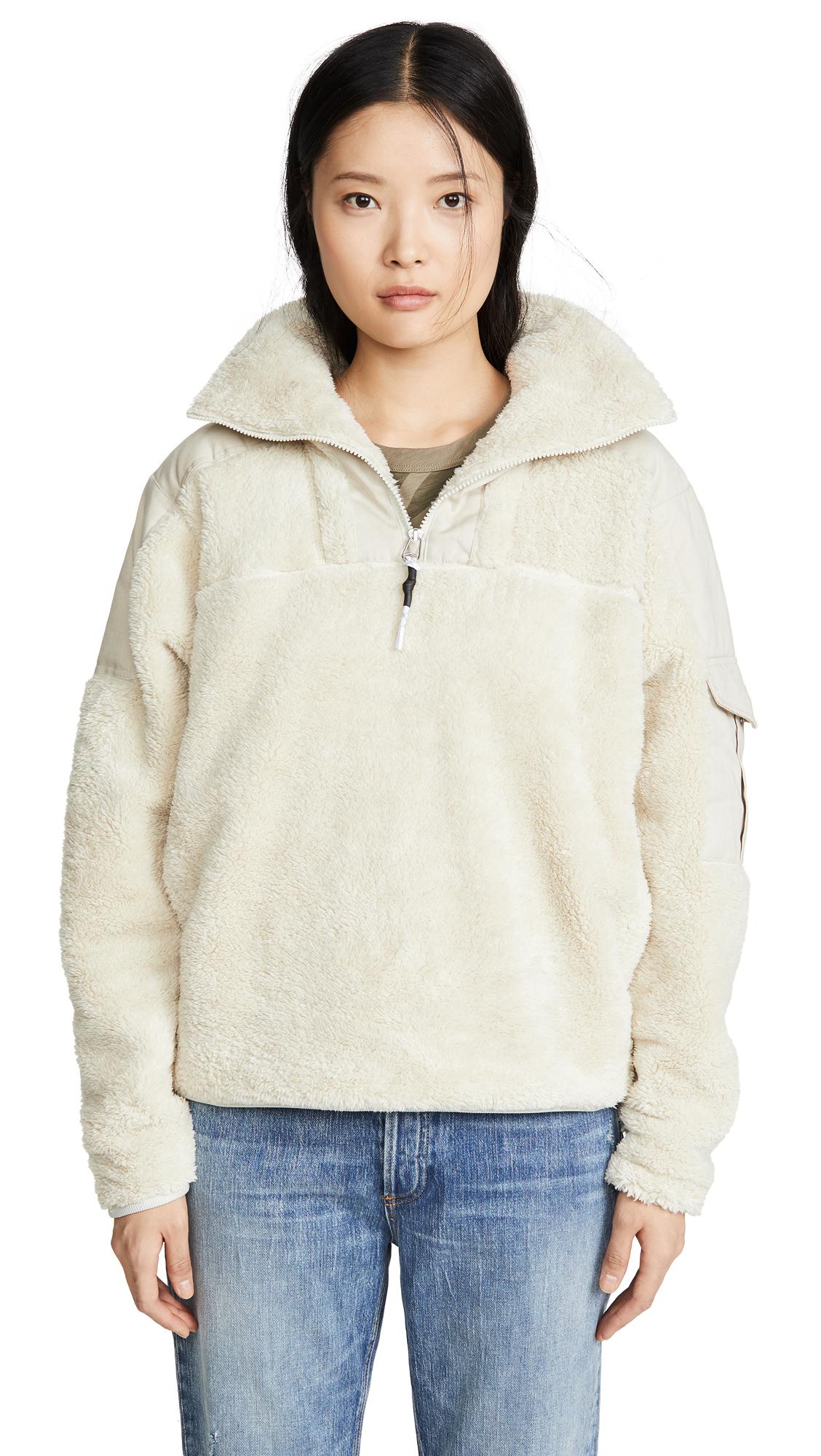 Rag & Bone/JEAN Logan Sherpa Pullover - 60% Off Sale
