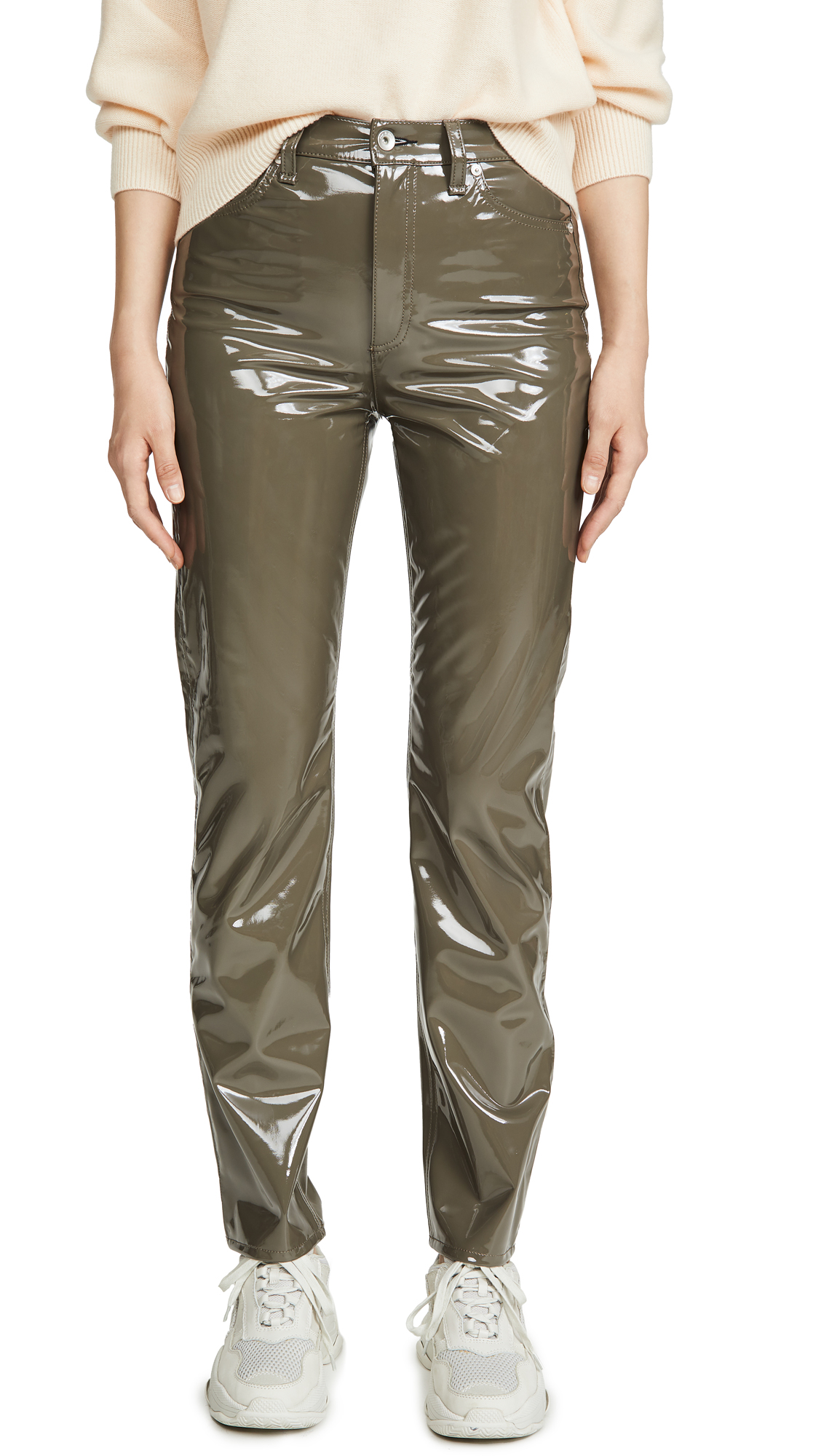 Buy Rag & Bone/JEAN online - photo of Rag & Bone/JEAN Nina High Rise Cigarette Vinyl Pants