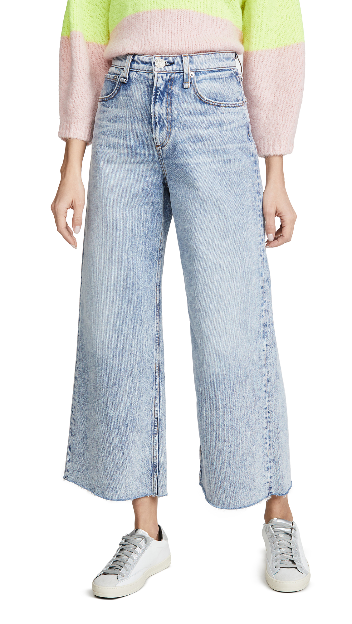 Buy Rag & Bone/JEAN online - photo of Rag & Bone/JEAN Ruth Super High-Rise Ankle Wide Leg Jeans