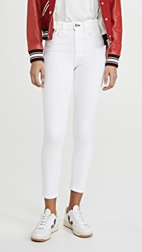 랙앤본 청바지 Rag & bone Nina High Rise Skinny Jeans,White