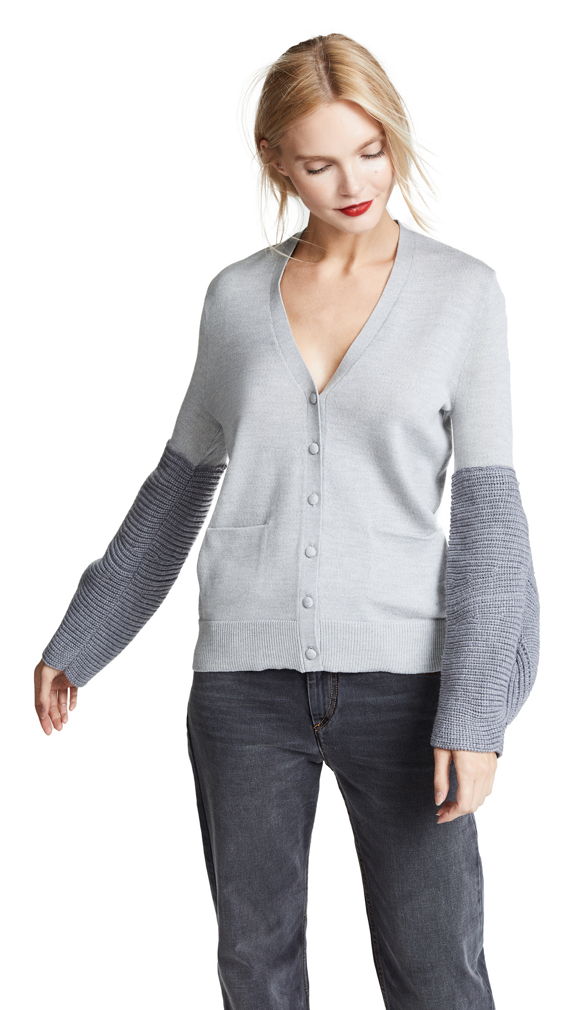 RHIE Magna Cardigan In Heather Grey