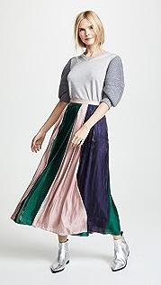 RHIE 涂料染色拼接半身裙