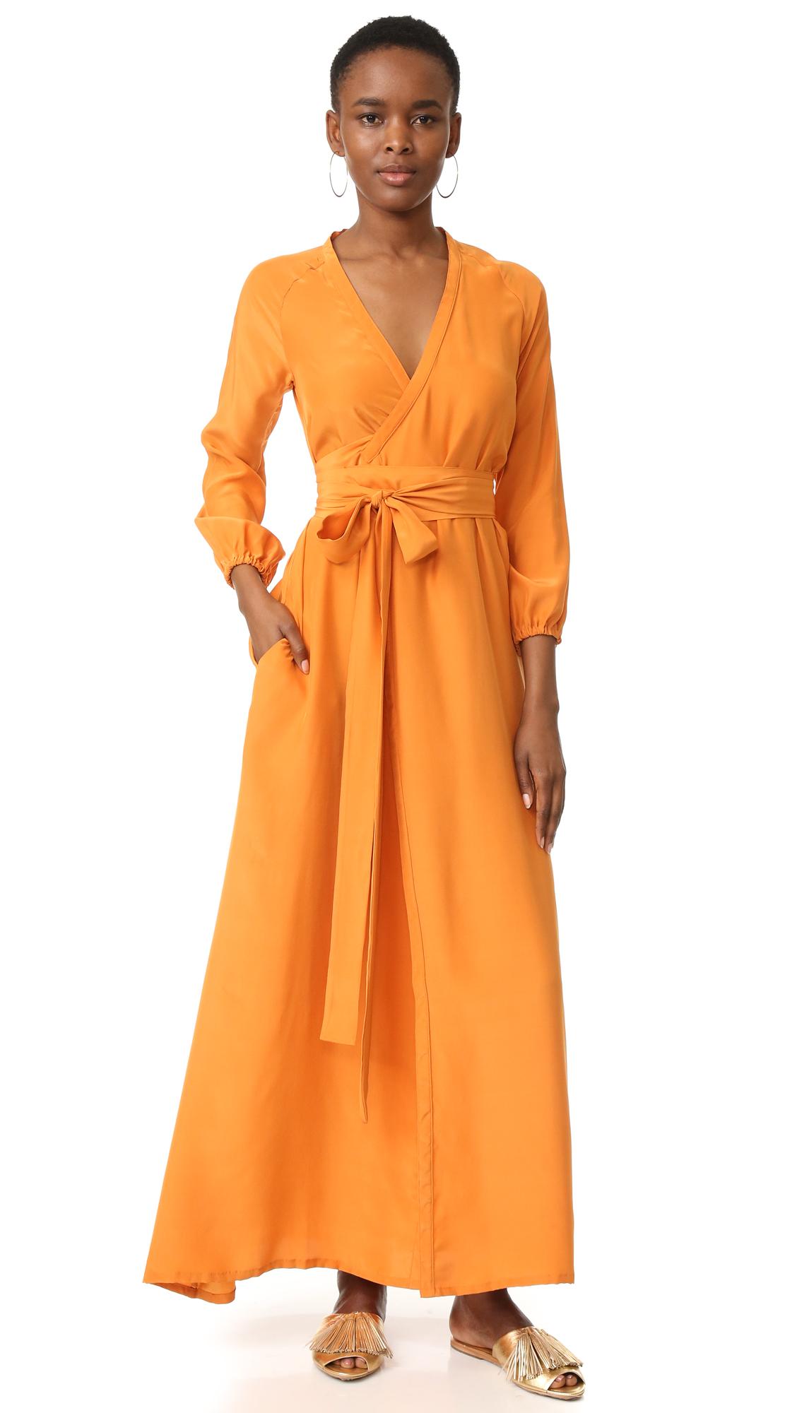 Rhode Resort Jagger Wrap Dress - Amber