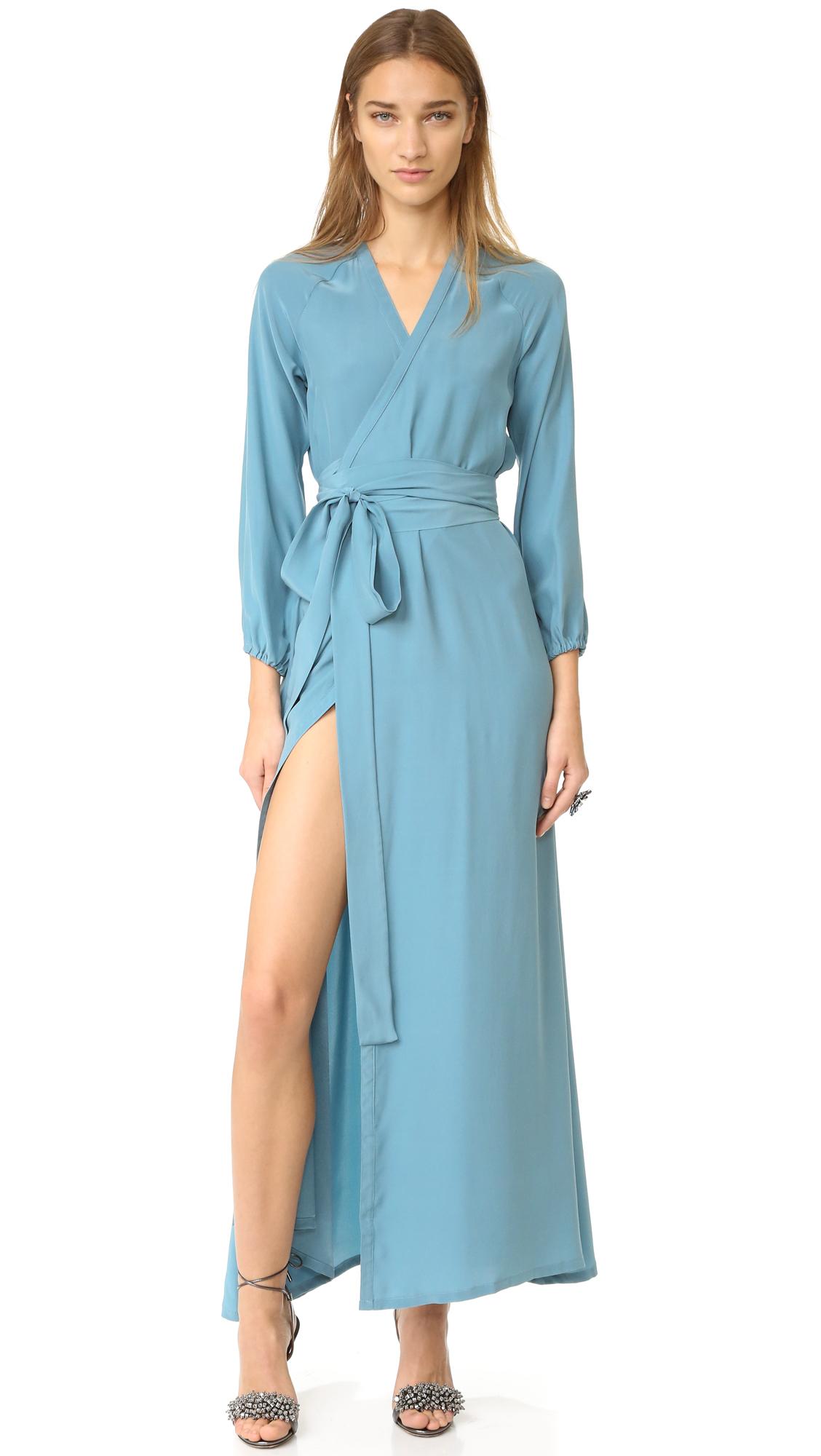 Rhode Resort Jagger Wrap Dress - Mist