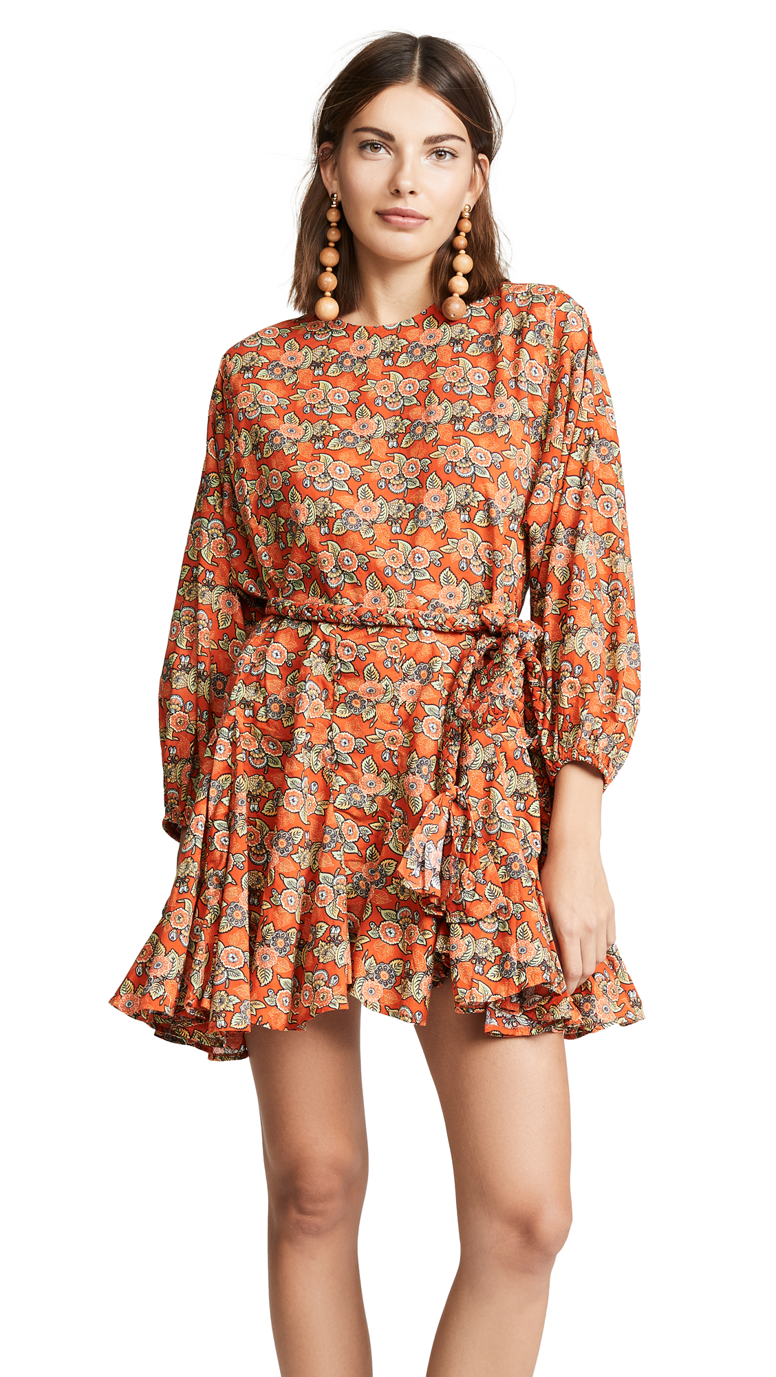 RHODE RESORT Ella Dress in Tangerine Blossom