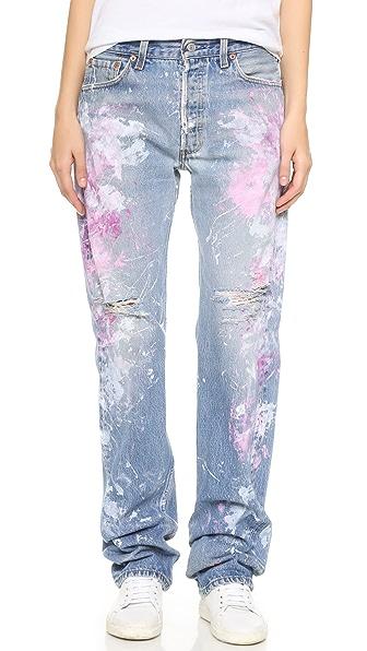 Rialto Jean Project Basic Distressed Boyfriend Jeans
