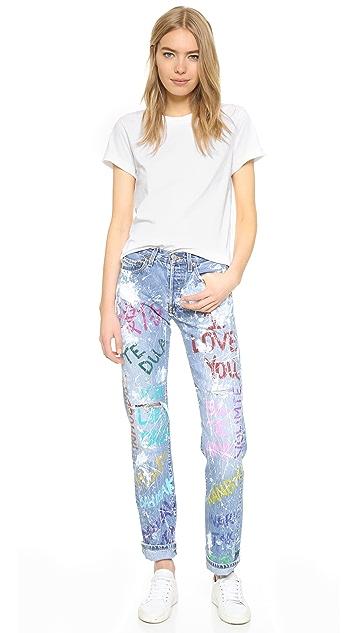 Rialto Jean Project I Love You Boyfriend Jeans