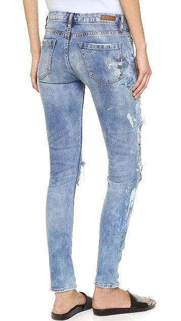 Rialto Jean Project RJP x Blank Denim Distressed Skinny Jeans