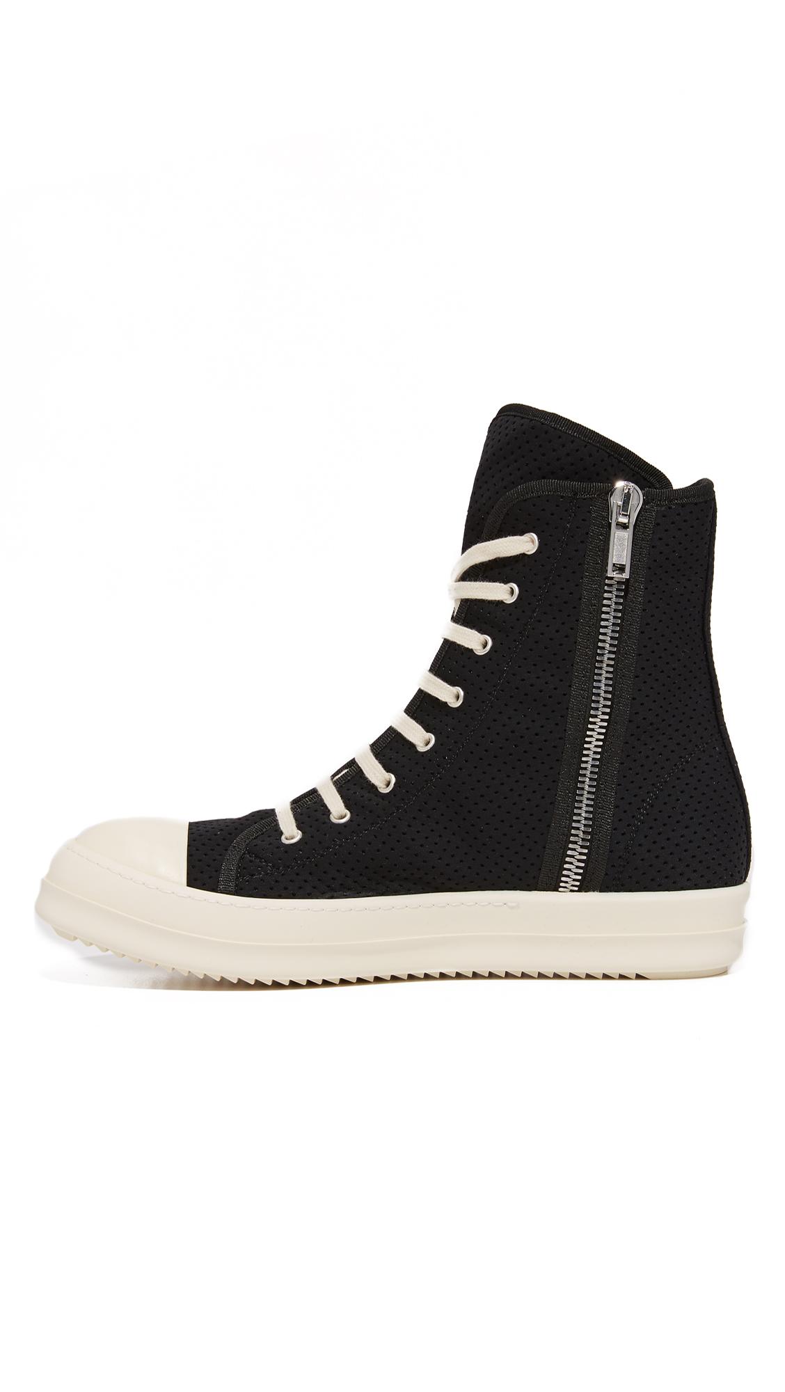 rick owens drkshdw high top sneakers black modesens. Black Bedroom Furniture Sets. Home Design Ideas