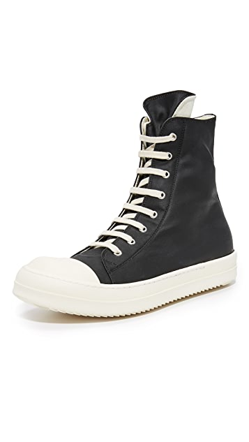 Rick Owens DRKSHDW Rubber Cotton Cap Toe Sneakers
