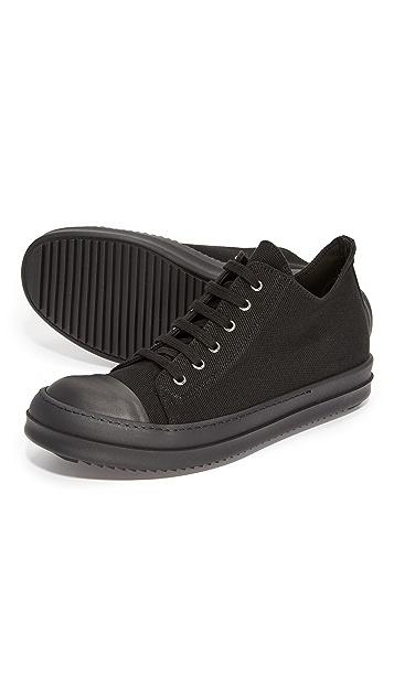 Rick Owens DRKSHDW Canvas Cap Toe Low Sneakers