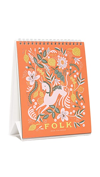 Rifle Paper Co Folk 2017 Desk Calendar