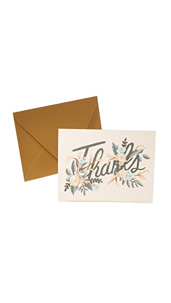 Rifle Paper Co Woodland Thank You Cards