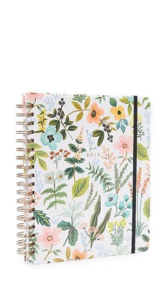 Rifle Paper Co 2018 Herb Garden Spiral Bound Planner