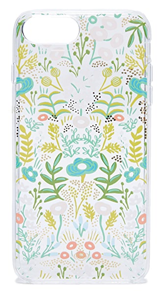 Rifle Paper Co Clear Tapestry iPhone 6 / 6s / 7 Plus Case In Clear Multi