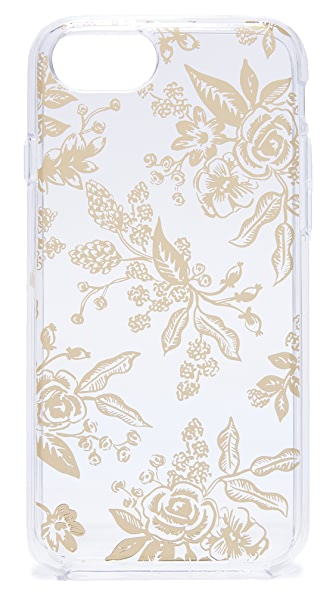 Rifle Paper Co Floral Toile iPhone 6 / 6s / 7 Case In Clear/Gold