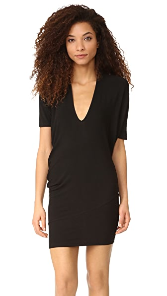 Riller & Fount Hank Asymmetrical 2 in 1 Tunic - Noir