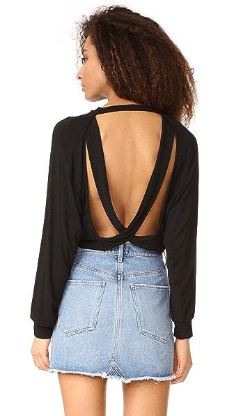 Riller & Fount Chet Open Back Sweater In Noir