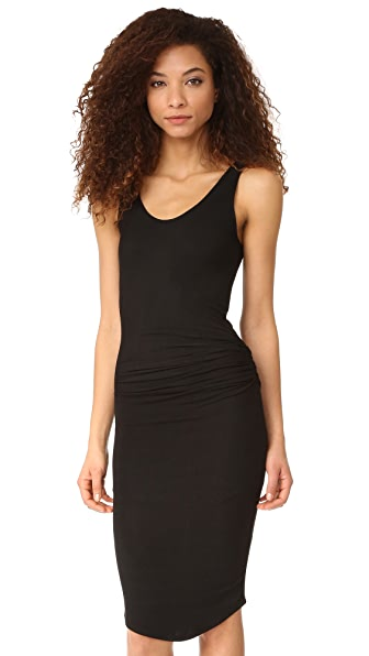 Riller & Fount Gia Sleevless Midi Dress In Noir