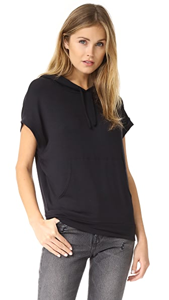 Riller & Fount Chip Sleeveless Pullover Hoodie - Black French Terry