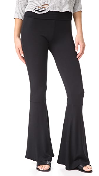 Riller & Fount Topher High Waisted Leggings - Black French Terry