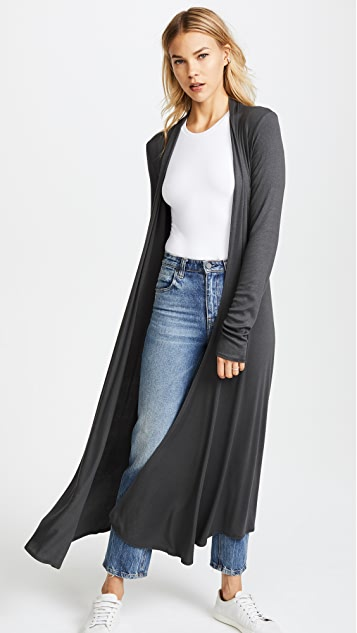 Riller & Fount Ribbed Norma Long Cardigan