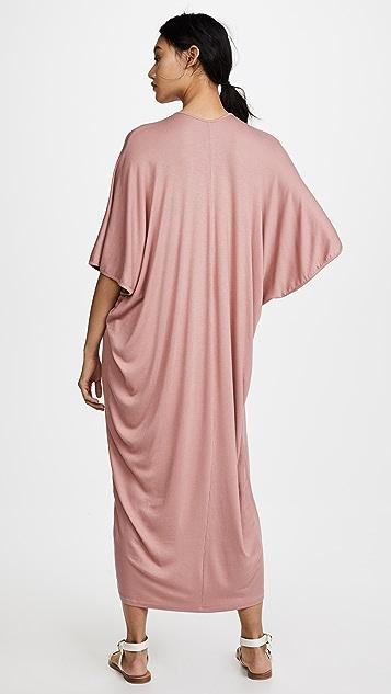 Riller & Fount Luca Ribbed Maxi Caftan Dress
