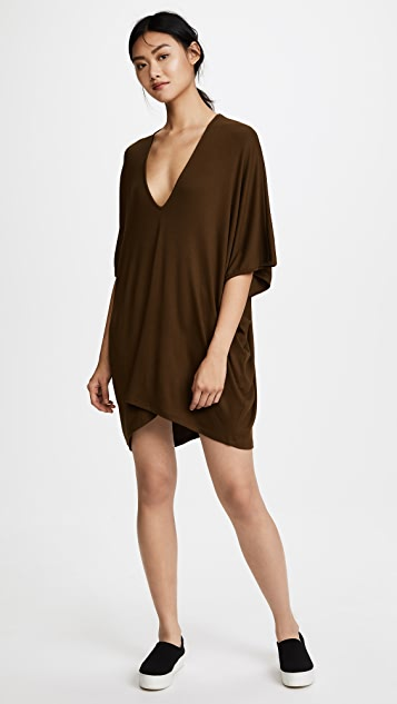 Riller & Fount Lola Ribbed Caftan Mini Dress