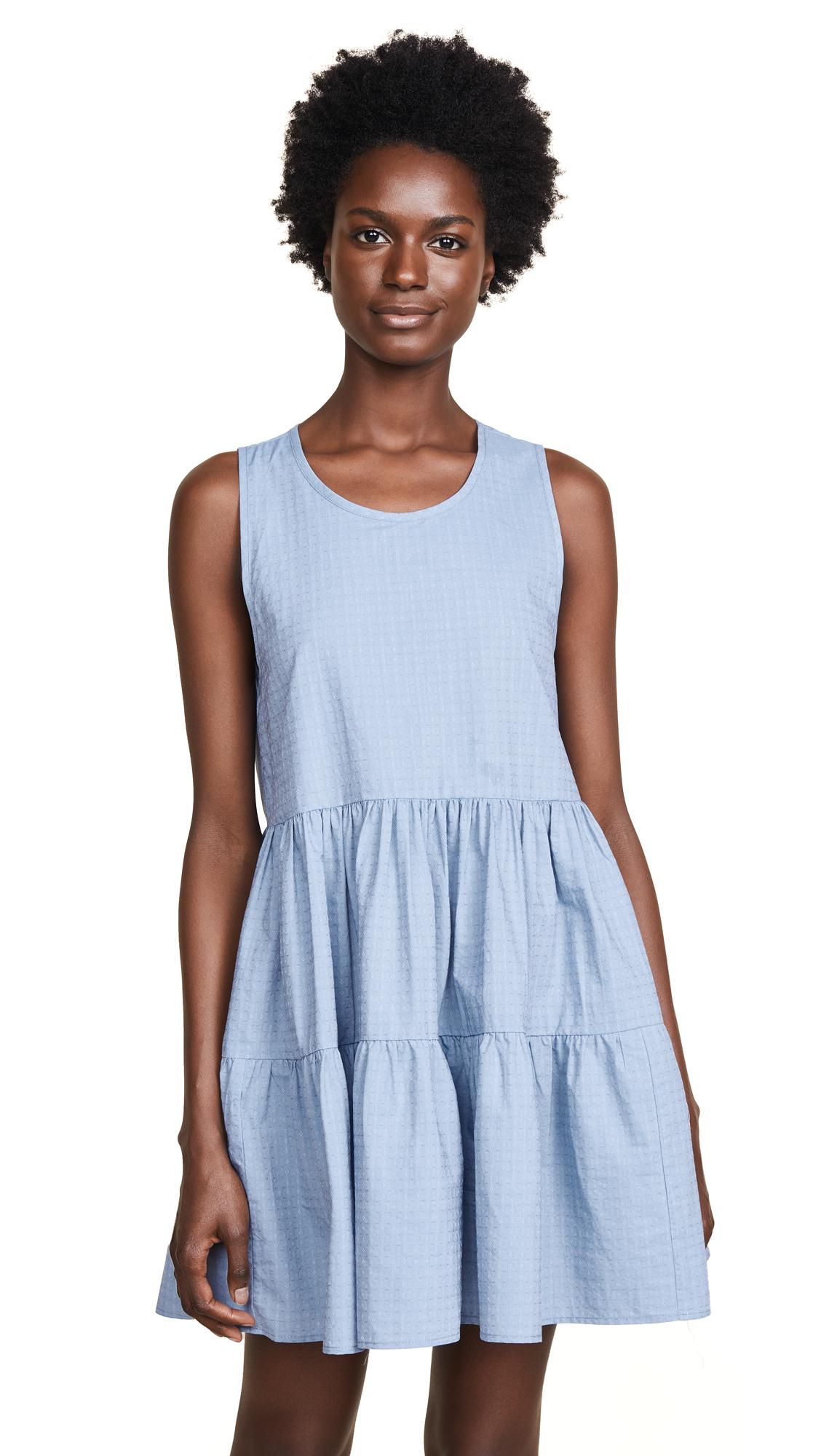 Riller & Fount Bonnie Tiered Mini Dress In Bleu