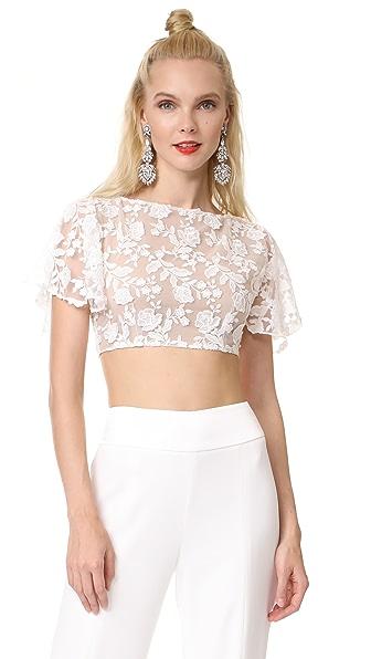 Rime Arodaky Nola Crop Top In White