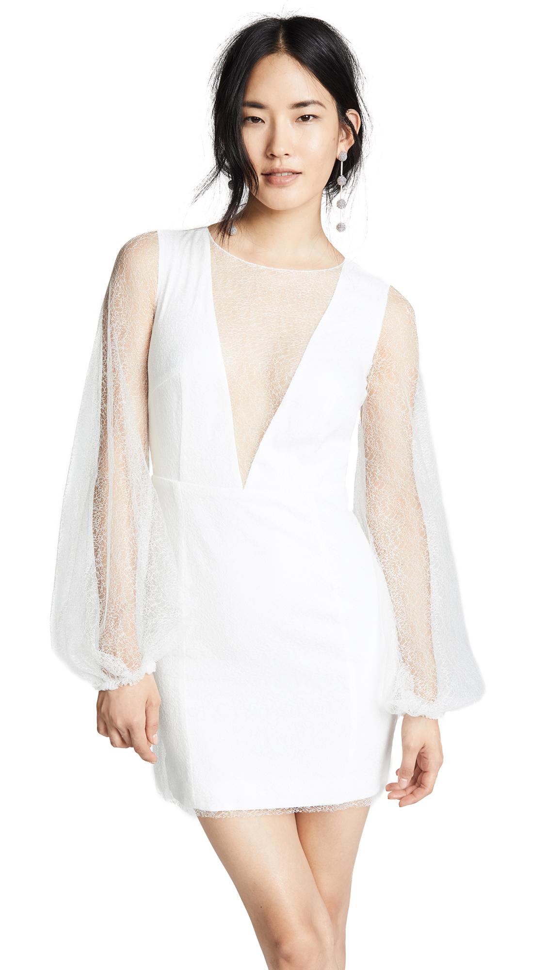 RIME ARODAKY Del Ray Dress With Balloon Sleeves in White