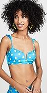 Riviera Sol Bordeaux Bikini Top