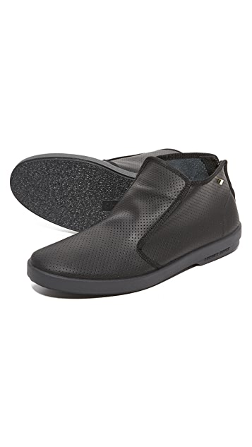 Rivieras Montante Basket 30 Perforated Leather Slip Ons