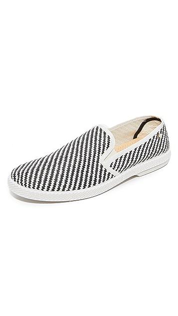 Rivieras Zebra Slip Ons