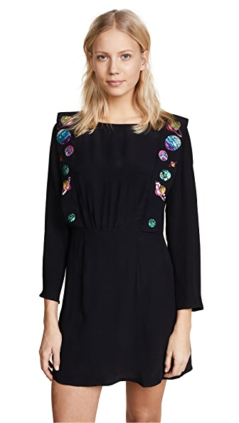 RIXO London Beth Dress In Planet Space Age
