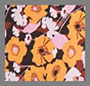 Abstract '60s Floral Yellow Pi