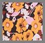 Абстрактный цветочный желтый принт в стиле 60-х гг.