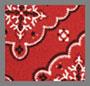围巾花卉红色