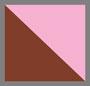 格纹粉色棕色
