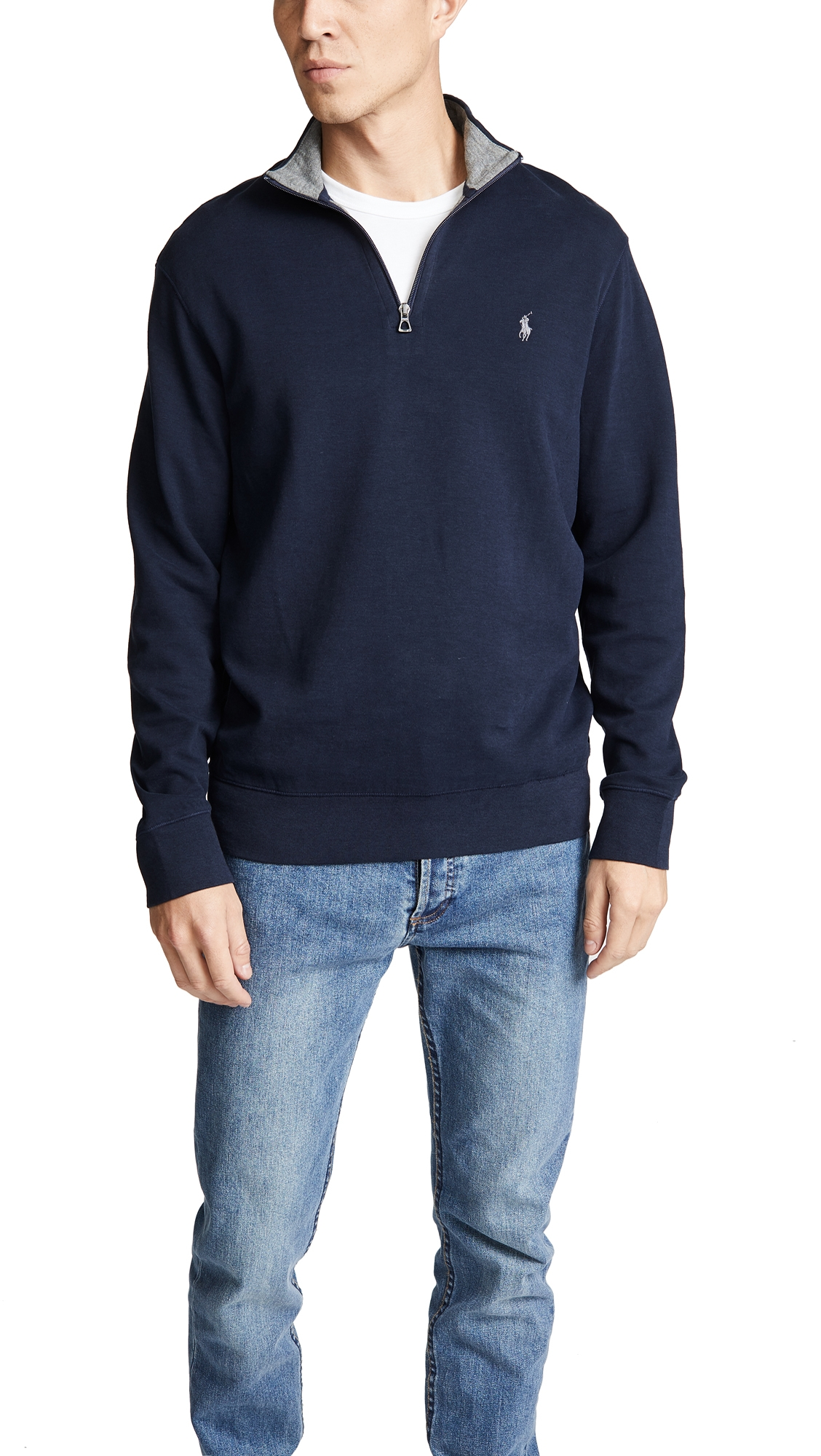 POLO RALPH LAUREN DOUBLE KNIT ZIP JERSEY