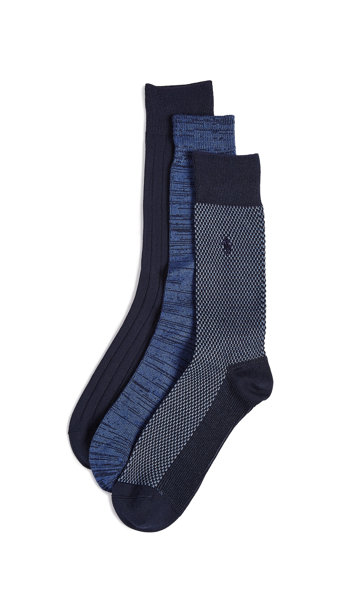 POLO RALPH LAUREN 3 PACK SUPERSOFT BIRDSEYE SOCKS