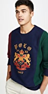 Polo Ralph Lauren Colorblocked Magic Fleece Crew Neck Sweatshirt
