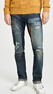 Polo Ralph Lauren Slim Fit Repared Varick Denim Jeans