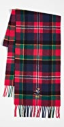 Polo Ralph Lauren Bear Embroidered Tartan Scarf
