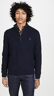 Polo Ralph Lauren Long Sleeve Textured Zip Sweater