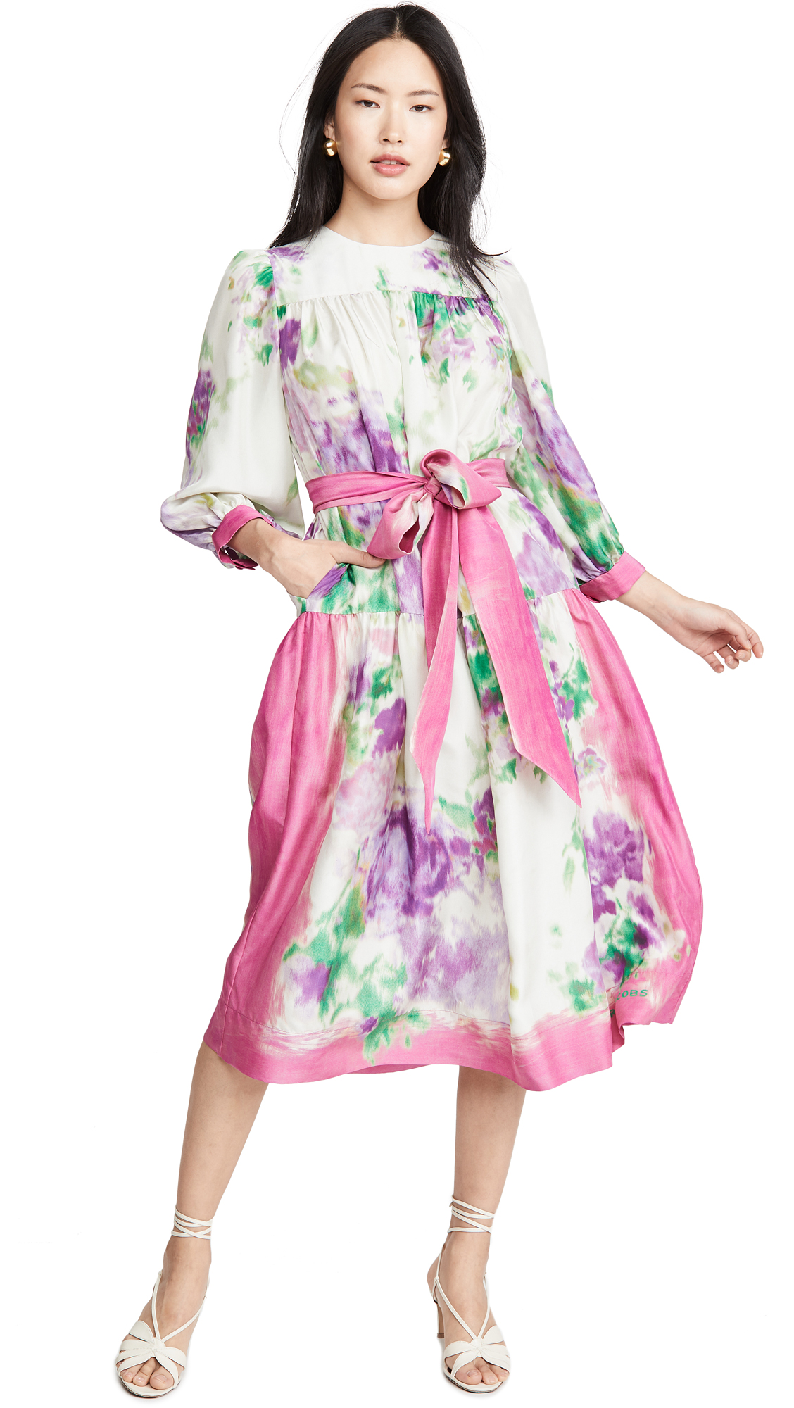 Runway Marc Jacobs Floral Scarf Print Dress - 30% Off Sale