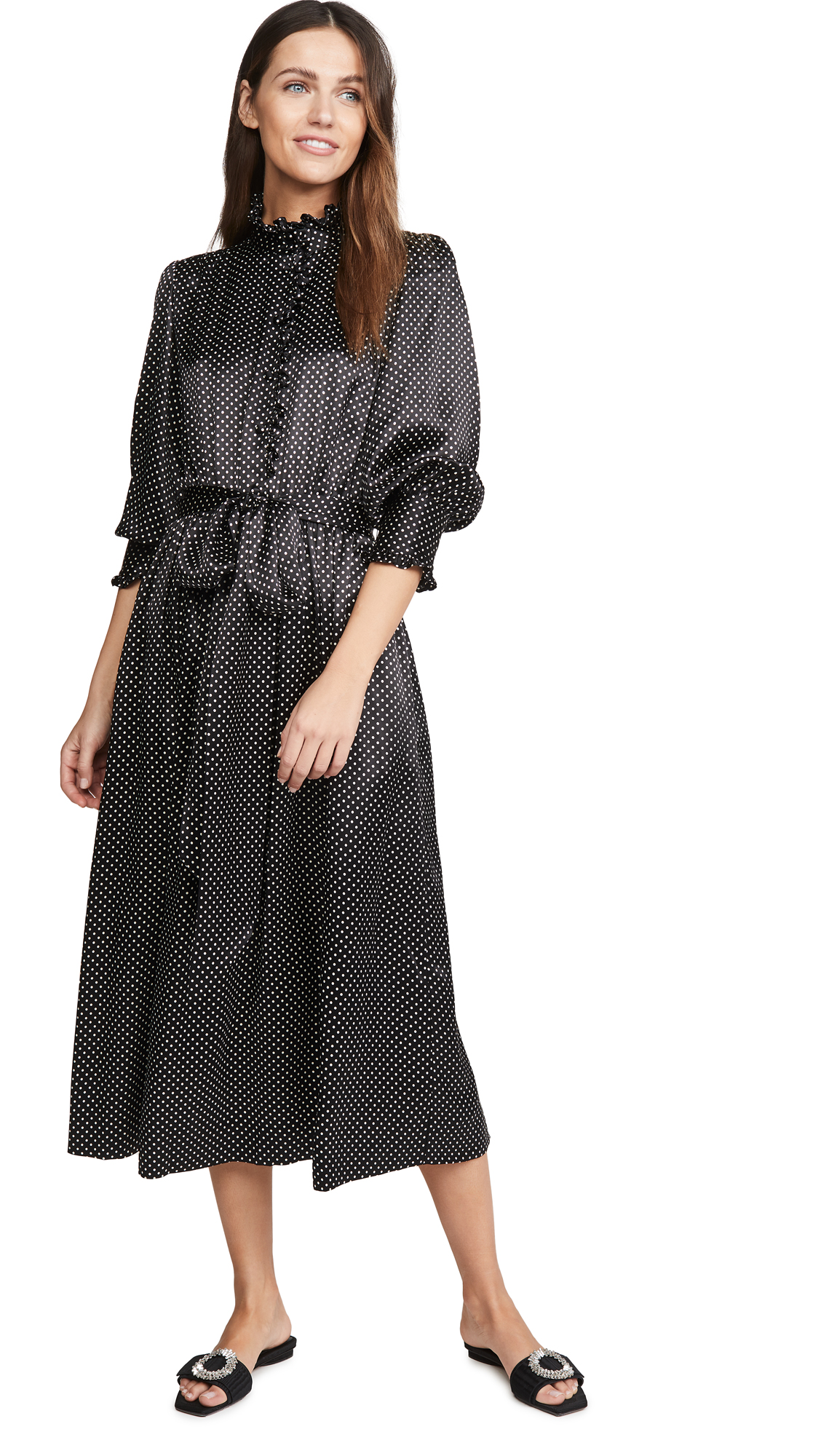 Runway Marc Jacobs Dress With Ruffle At Collar & Cuffs - 30% Off Sale