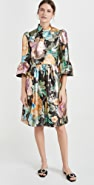 Runway Marc Jacobs Brocade Dress with Flared Sleeve