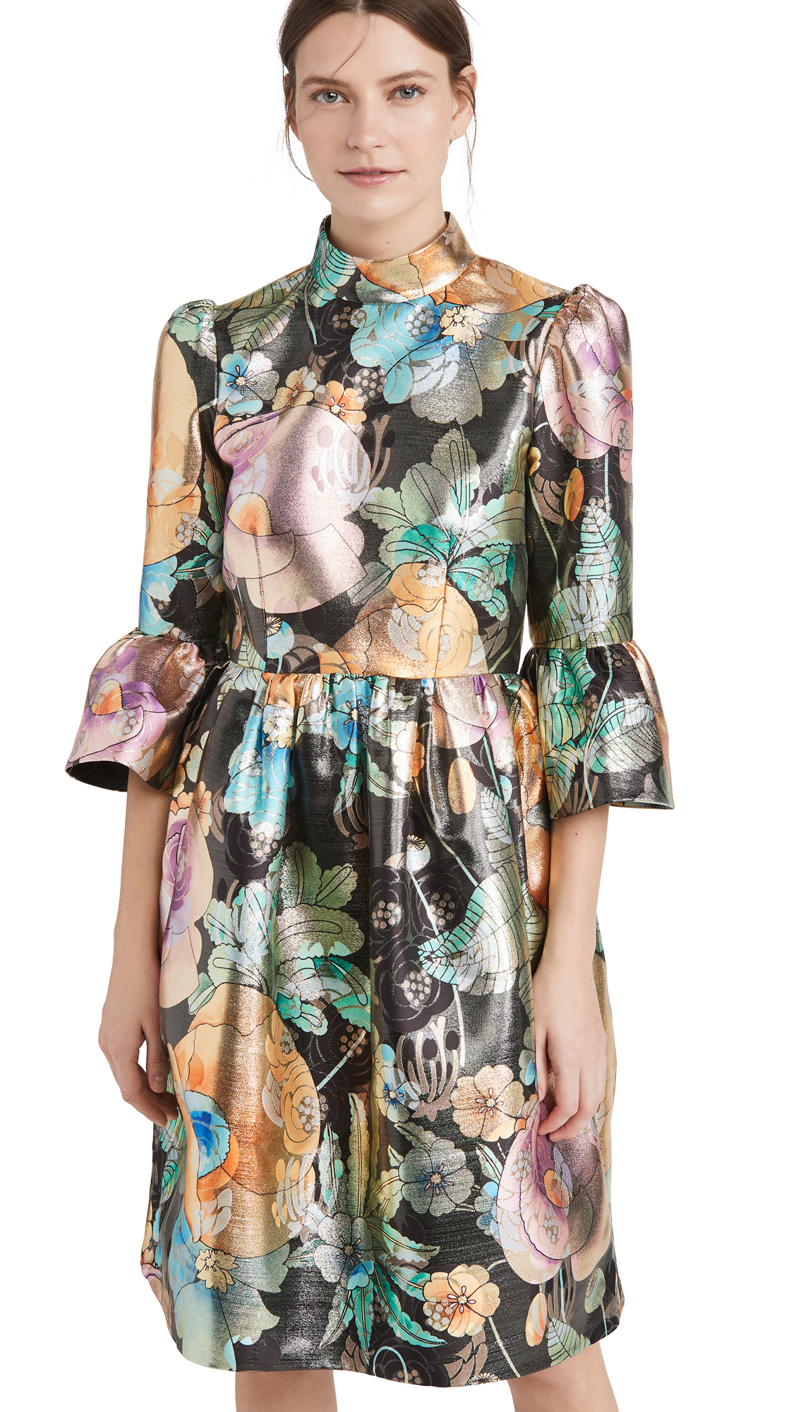 Runway Marc Jacobs Brocade Dress with Flared Sleeve - 30% Off Sale
